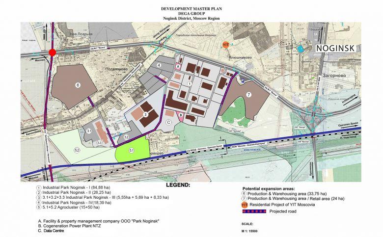 Конкретный участок земли промышленного назначения в реальном индустриальном парке 2013