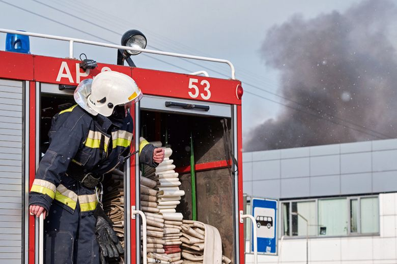 На северо-западе Москвы загорелся технопарк Орбита