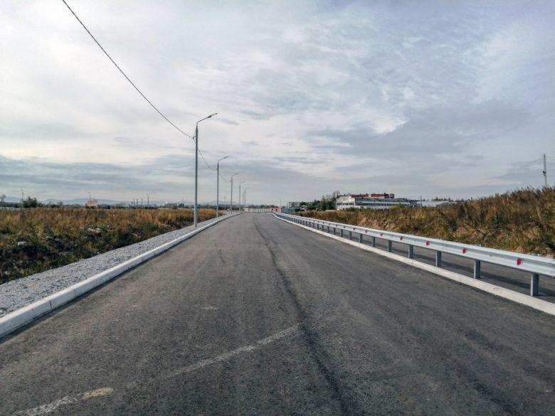 В Хабаровске завершили строительство дороги к индустриальному парку Авангард