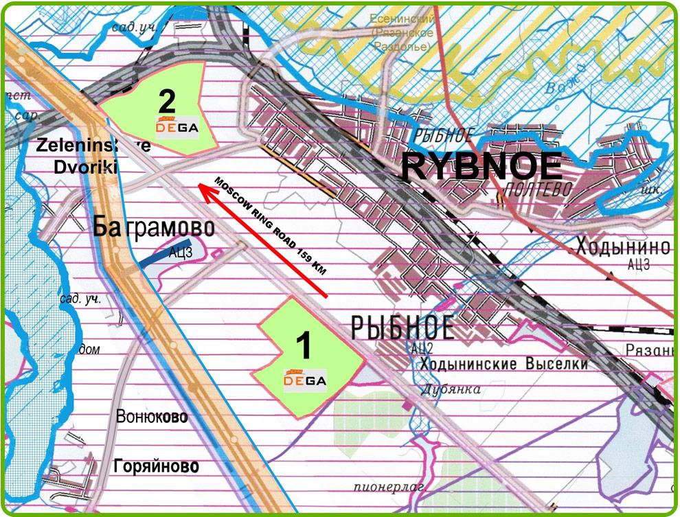 Карта - схема индустриального