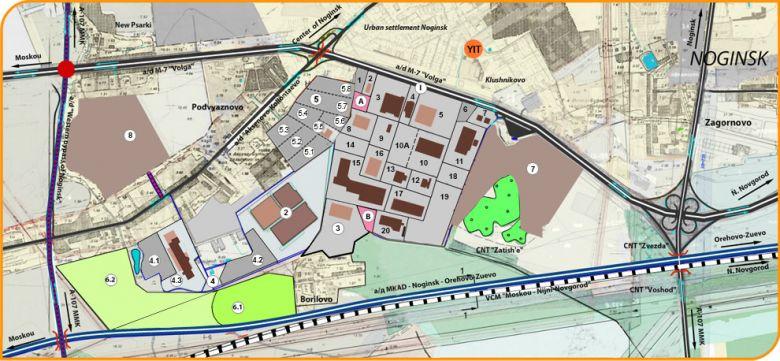 Карта-схема - индустриальный парк - Московская область